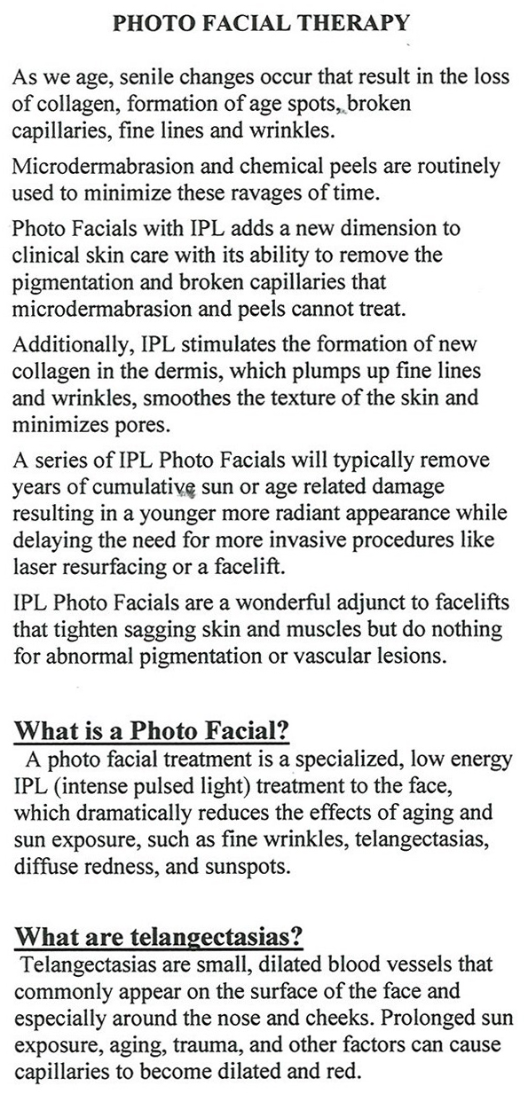 photo facial therapy